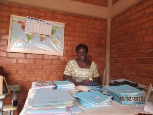 Rektorin der Schule