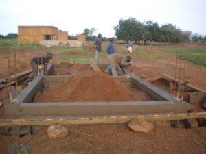 Fundament für Technikgebäude