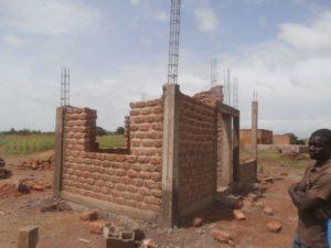 Technikgebäude am Entstehen