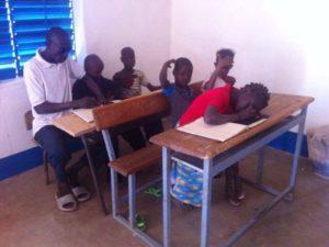 Unterricht für sehbehinderte Kinder