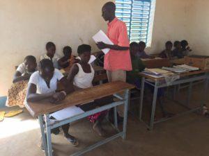 Schulklasse mit Sehbehinderten Kindern