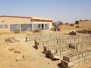Beton-Ziegel für Mauerbau