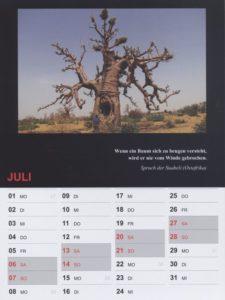 Kalender 2019 / Juli