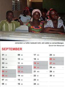 Kalender 2020 / September