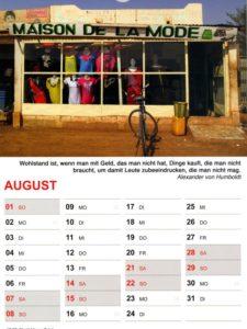 Kalender 2021 / August